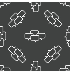 Chatting pattern vector image