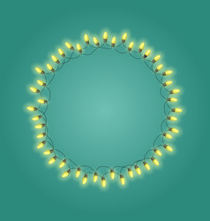 christmas garland bulb background vector image
