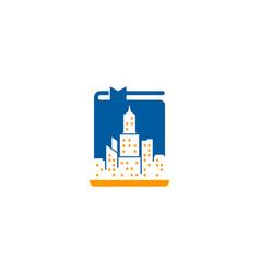 city book logo icon design vector image