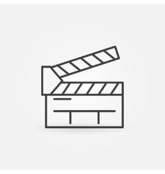 Clapboard line icon vector image