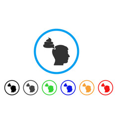 Crap thinking person icon vector