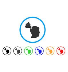 Crap thinking person icon vector
