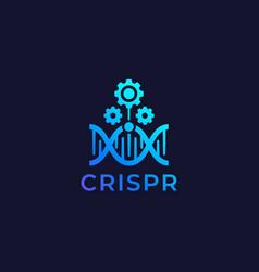 crispr technology logo vector image
