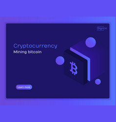 cryptocurrency and blockchain vector image