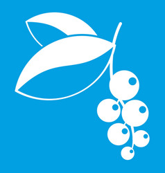 Currant berries icon white vector