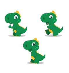 cute little dinosaurs vector image