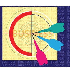 Dartboard and target vector image vector image