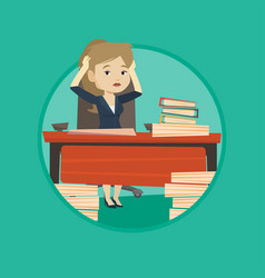 despair business woman working in office vector image