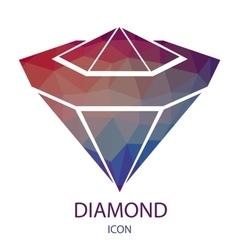 Diamond Icon Jewerly Logo vector