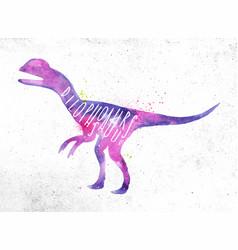 Dinosaur dilophosaur vivid vector