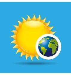 Earth rotation the sun icon design vector