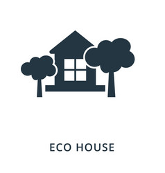 eco house icon flat style icon design ui vector image