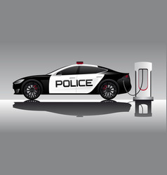 Electric police car vector