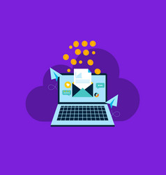 email marketing internet advertising concepts vector image