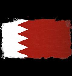 Flag of bahrain grunge vector