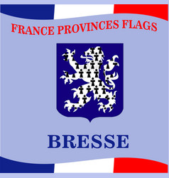 Flag of french province bresse vector