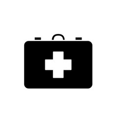 flat line first aid kit icon vector image