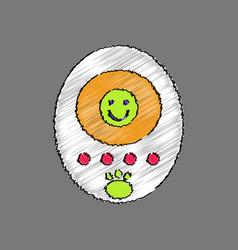 Flat shading style icon tamagotchi pets pocket vector