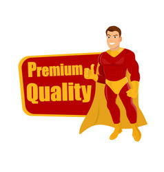 flying superhero over white background giving vector image
