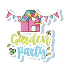 Garden party cartoons vector
