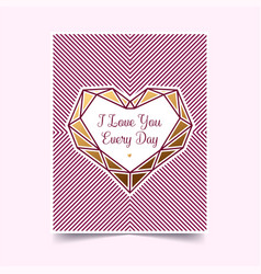 gold valentine on a white background vector image