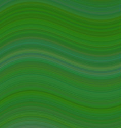 Green smooth wave background design vector image