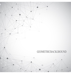Grey graphic background dots with connections vector