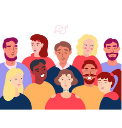 group people flat vector image