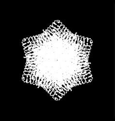 grunge brushed snowflake vector image