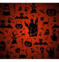 Halloween elements seamless pattern background vector