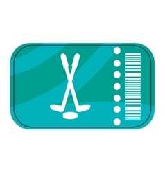 Hockey ticket icon vector