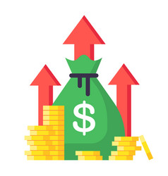 Income increase financial strategy high return vector