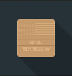 independence day flat design icon vector image