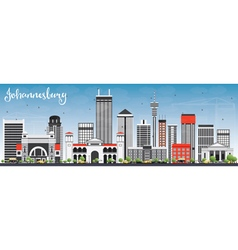 Johannesburg Skyline with Gray Buildings vector