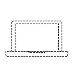 laptop computer icon in monochrome dotted vector image