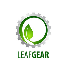 leaf gear logo concept design symbol graphic vector image