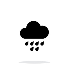 Light rain weather icon on white background vector
