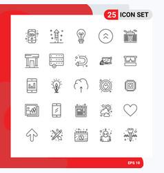 Line pack 25 universal symbols corporation vector