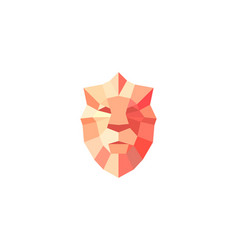 lion shield bright gradient logo design vector image