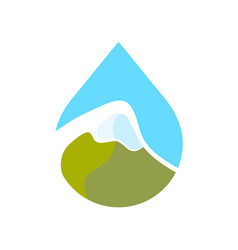 Logo of alpine mountains vector