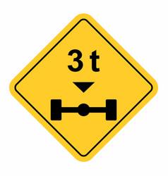 maximum weight per axle vector image