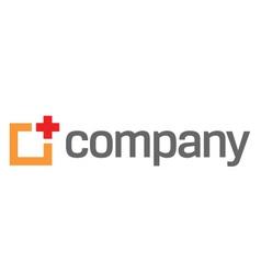 Medical red cross logo vector