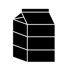 Milk box icon vector