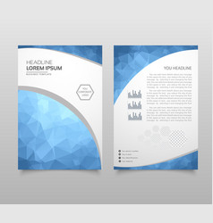 Modern triangle presentation template business vector