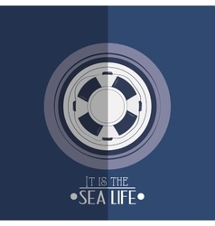 Nautical sea life related icons image vector