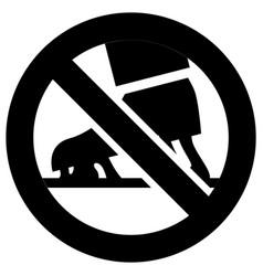 No chewing gum forbidden sign modern round vector