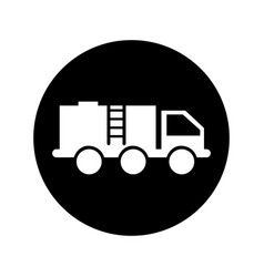 Oil truck isolated icon vector