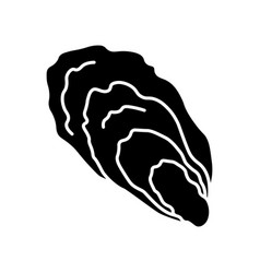 Oyster black glyph icon vector