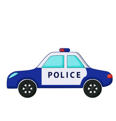 police car icon cartoon style vector image