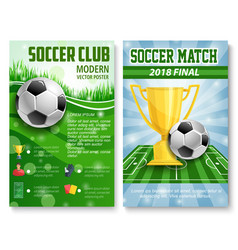 Posters of football soccer cup match vector